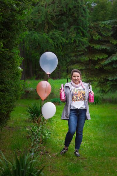 urodziny, szampan, balony