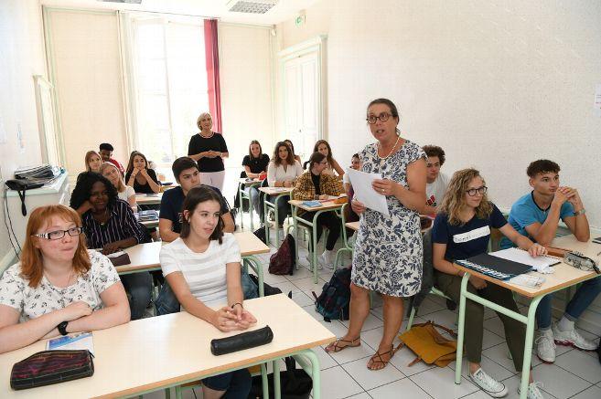 Les 444 élèves du lycée Anna-Rodier ont fait leur rentrée avec de nouveau dispositifs. © Philippe BIGARD