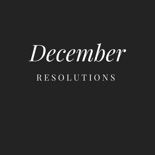 So the December resolution starts tomorr