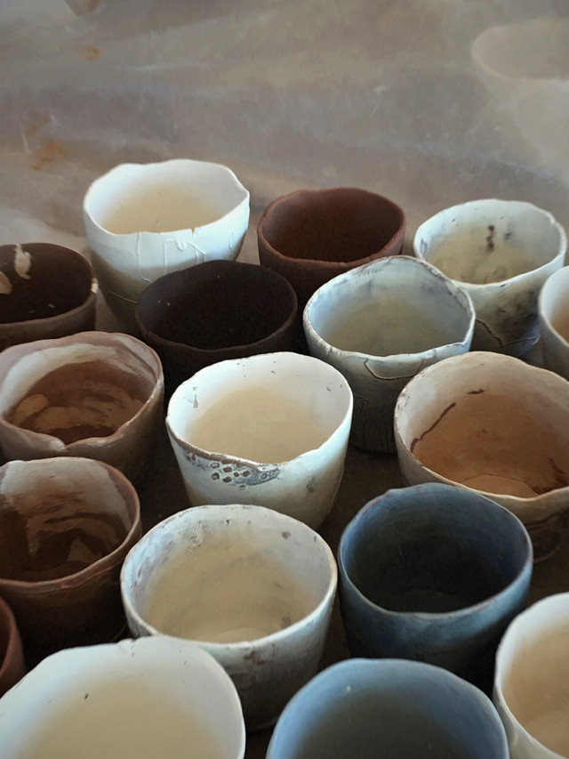 tania rollond_wip mixed clay cups_2019.j