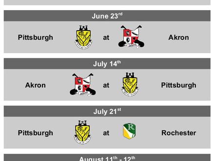 2018 Midwest Match Schedule