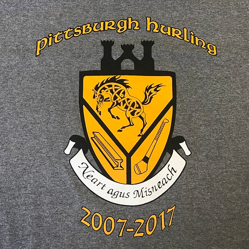 Grey Short Sleeve Puca 10 Year Anniversary Shirt