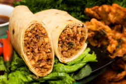 Pakora Fritter Roti Roll