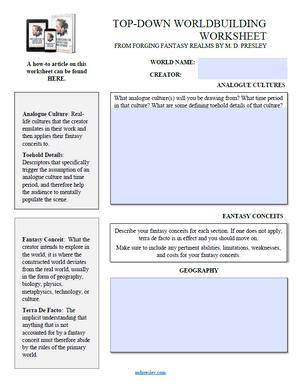Top Down Worldbuilding Worksheet