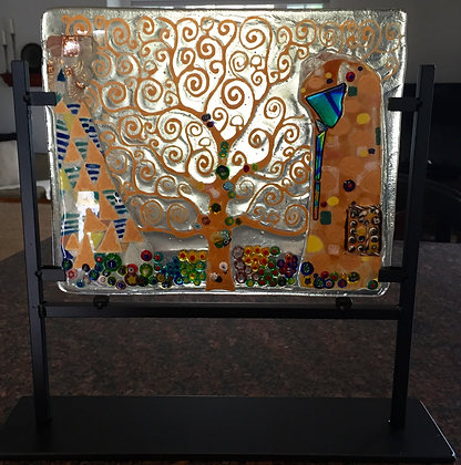 "Klimt's ""Tree of Life"" in glass"