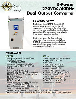 270VDC, 270 VDC, F 35 power supply. frequency converter