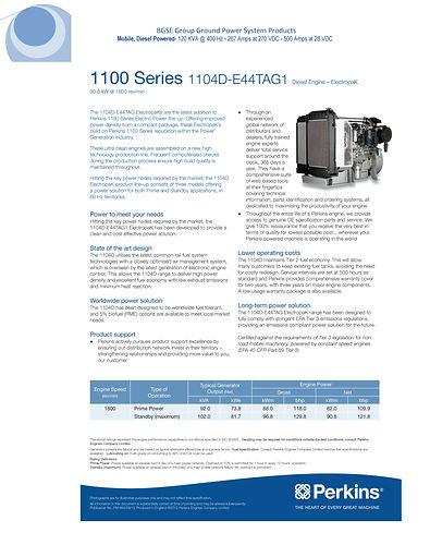 Specification sheet  270 VDC Mobile Offe