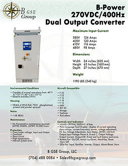 270VDC, 270 VDC, F 35 power supply, frequency converter
