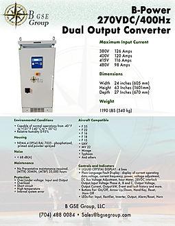 270VDC, 270 VDC, F 35 power supply, frequency converter