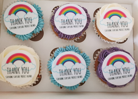 6 x Cupcakes with edible image toppers