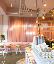 Social society bespoke pink cafe design