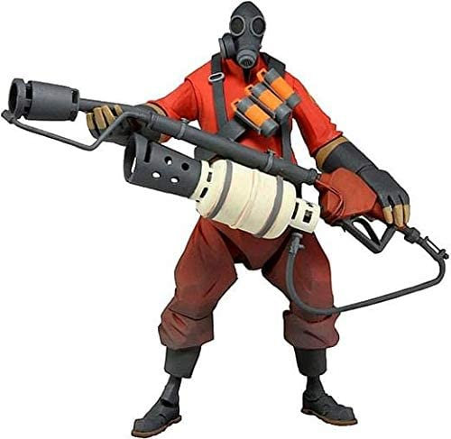 """Official NECA Valve Team Fortress 2: 7"""" The Pyro Ultra Deluxe Action Figure(Red)"""