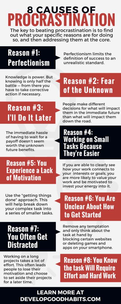 8 causes of procrastination