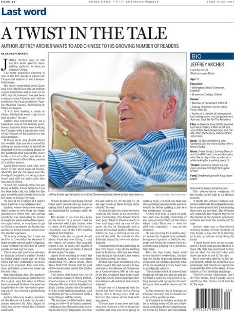 China Daily - Jeffrey Archer _pdf_201106