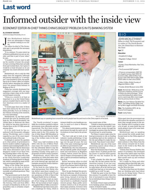 China Daily_20141107-32 John Micklethwai