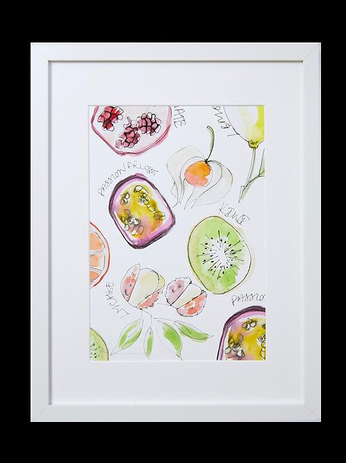 Tropical Fruit Print