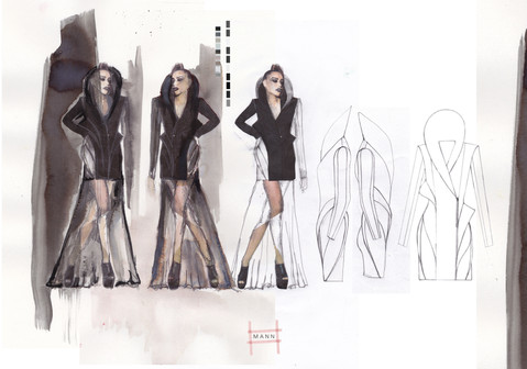 Look 1 Illustrations & Flats