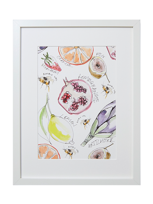 Fruity Bees Print