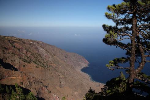 Au coeur de la forêt de pins près d'El Julan se dessine le canyon de Las Playas.
