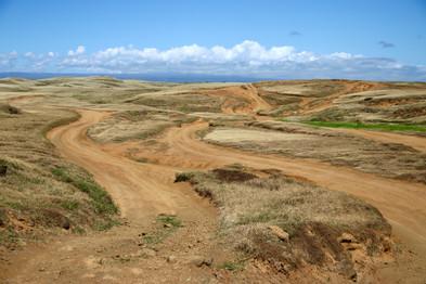 En se dirigeant vers Papakolea Green Sand Beach - Côte sud -
