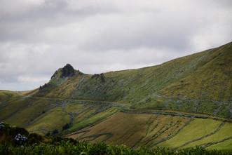 Sur les hauts-plateaux de l'île balayés par les vents.