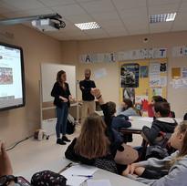 Intervention dans la classe de 6G - Collège Beauregard de La Rochelle - novembre 2018 / en partenariat avec Mme BIOU et Mme BURIAS - HOUSSAY