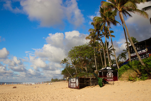 Spot mondialement connu de Banzai Pipeline - North Shore -  (pendant le Volcom Pro Contest)
