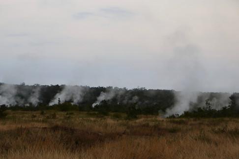 Fumerolles près de Jaggar Museum sur le volcan Kilauea.   - Hawaiian Volcanoes National Park -