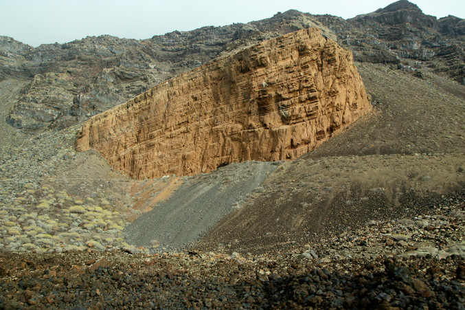 Paysage chaotique parsemé de champs de lave au nord-ouest de l'île.