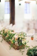 Panier long fleurs - Mariage