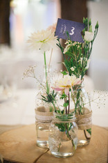 Décoration table mariage - fleurs