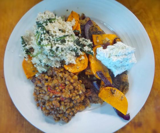 Moroccan Style Chicken, Lentils & Couscous!