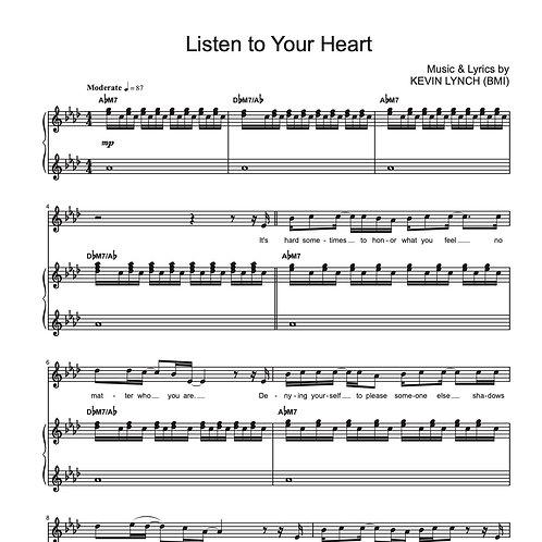 Listen to Your Heart [Sheet Music]