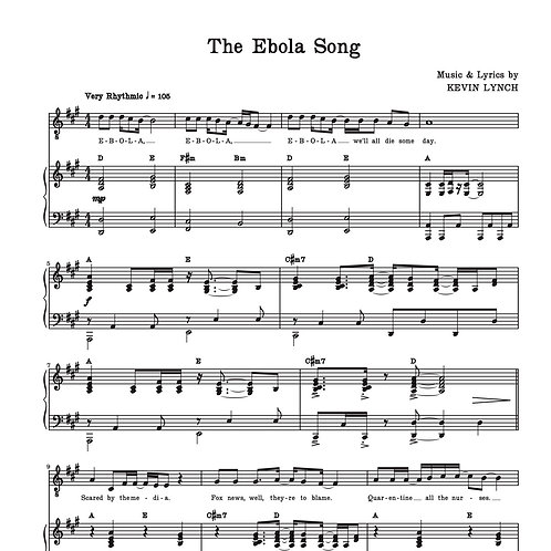 """The Ebola Song"" - Sheet Music"