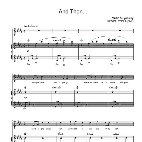 """And Then..."" - Sheet Music"