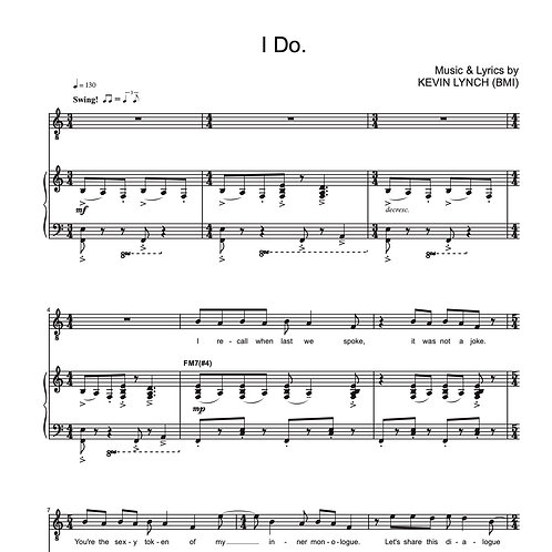 """I Do"" - Sheet Music"