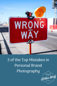Mistakes in Personal Brand Photography