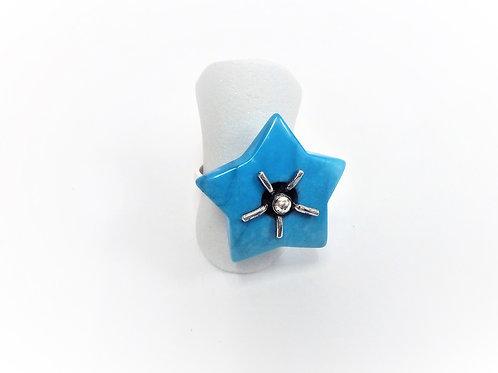 Anillo Howlita Azul