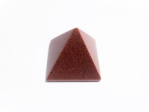Pirámide Aventurina Oro Marrón