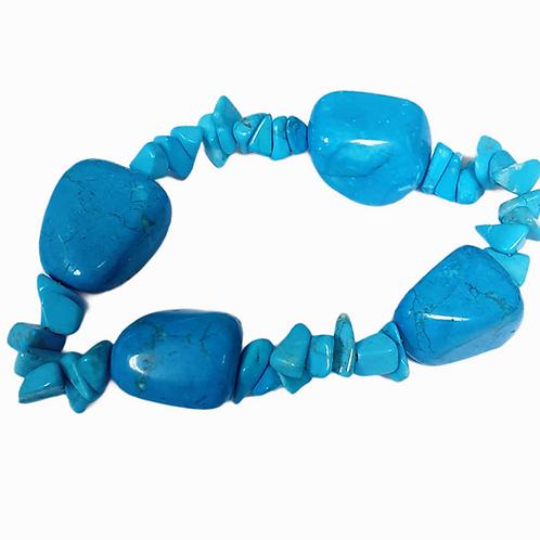 Pulsera Howlita Azul