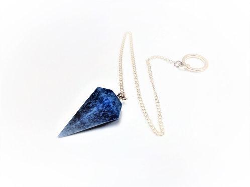 Péndulo Cuarzo Azul