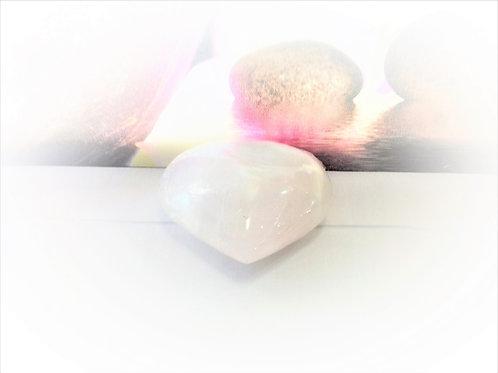 Corazón Selenita Blanca