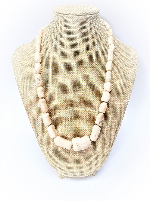 Collar Coral Blanco