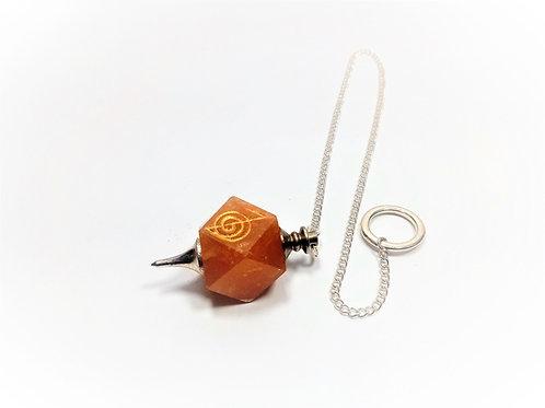 Péndulo Calcita Naranja
