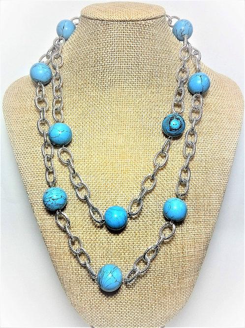 Collar Howlita Azul