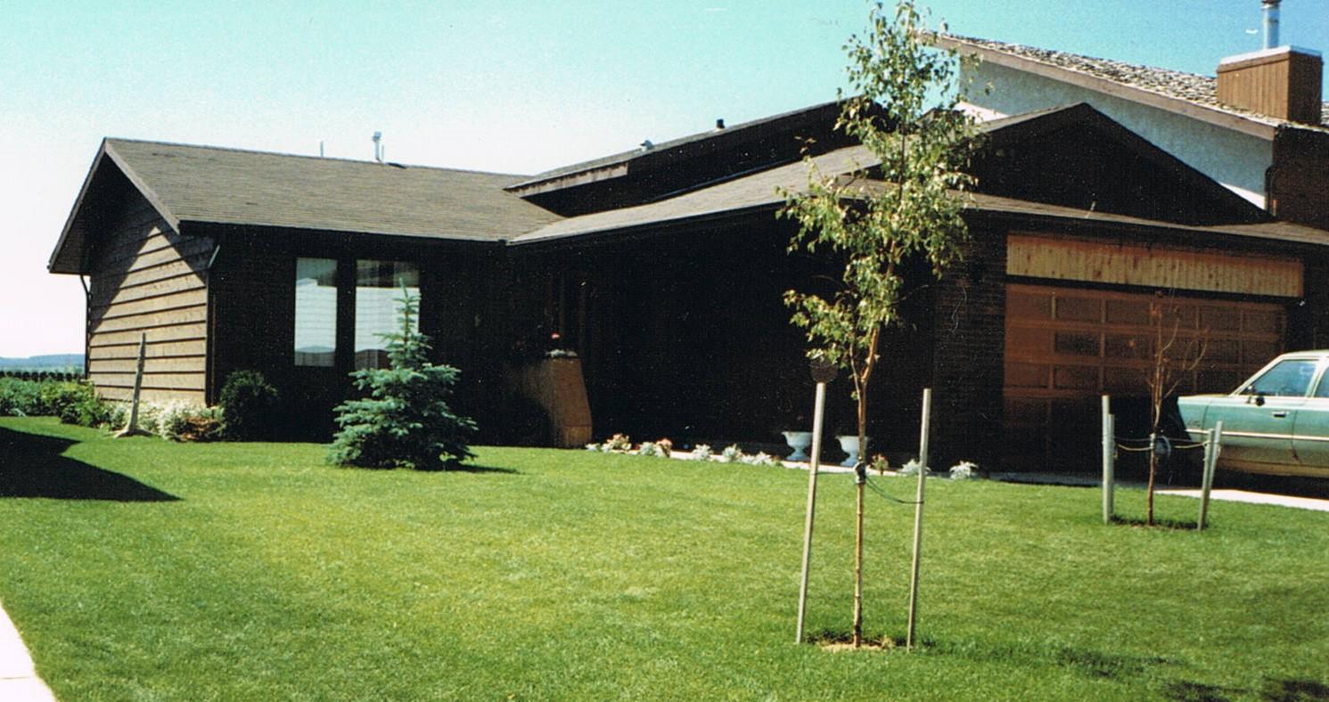 Home he built in Rimbey (1986)