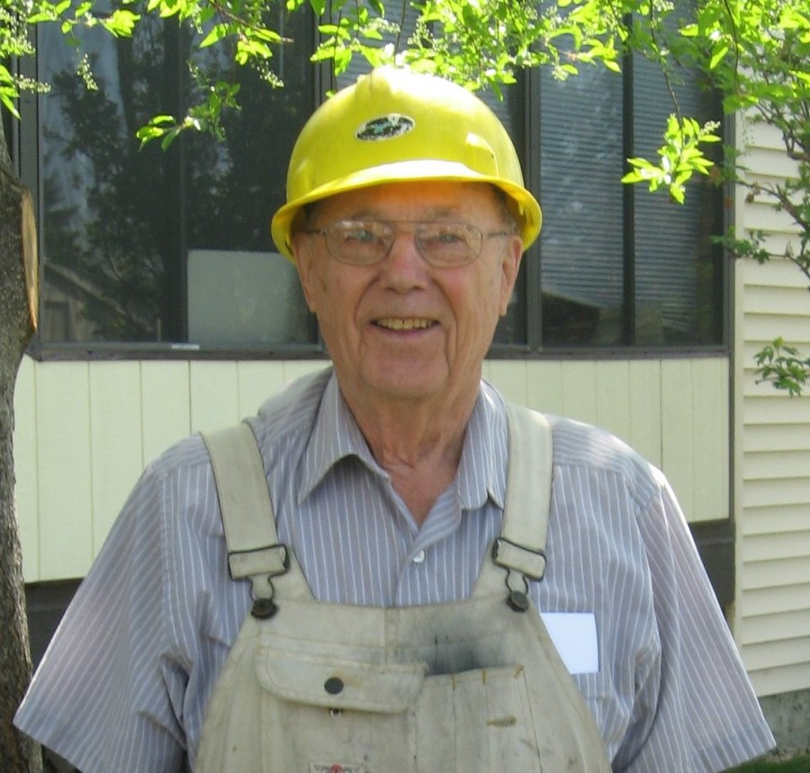 Yellow hard hat became his trademark