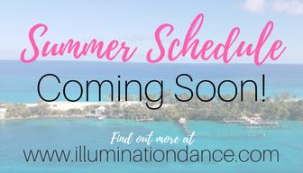 Summer schedule coming soon!