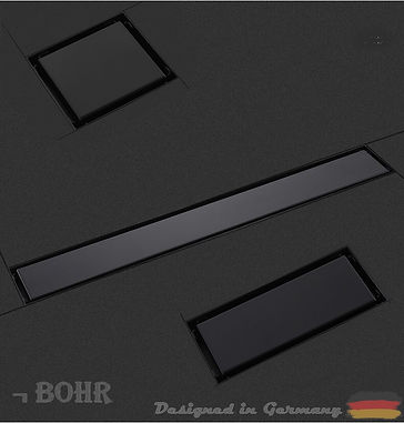The Bohr flush shower drain