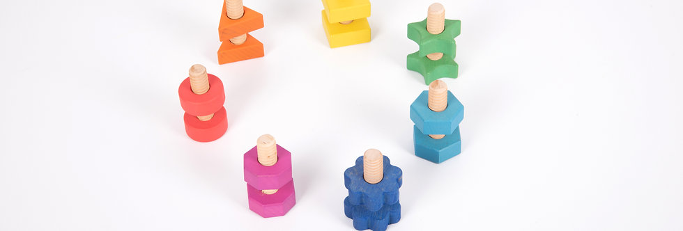 TickiT - Rainbow Wooden Nuts & Bolts